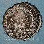 Monnaies Décence, césar (350-353). Maiorina. Lyon, 2e officine, 351. R/: deux Victoires