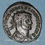 Monnaies Dioclétien (284-305). Bronze radié. Rome, 1ère  officine, 297-298. R/: VOT /XX / A
