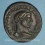 Monnaies Dioclétien (284-305). Follis. Ticinum, 294-295. R/: Génie