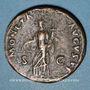 Monnaies Domitien (81-96). As. Rome, 90-91. R/: l'Equité debout à gauche