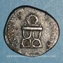 Monnaies Domitien (81-96). Denier. Rome, 82. R/: chaise curule