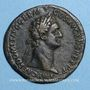Monnaies Domitien (81-96). Sesterce. Rome, 90-91. R/: Jupiter