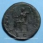 Monnaies Domitien (81-96). Sesterce. Rome, 95-96. R/: Jupiter