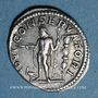 Monnaies Elagabale (218-222). Denier. Rome, 219. R/: Jupiter nu debout à gauche