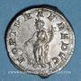 Monnaies Elagabale (218-222). Denier. Rome, 220-221. R/: la Fortune debout à gauche