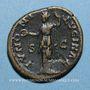 Monnaies Faustine jeune, épouse de Marc Aurèle († 175). As. Rome, 148-152. R/: Junon