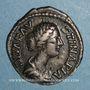 Monnaies Faustine jeune, épouse de Marc Aurèle († 175). Denier. Rome après 176. R/: autel