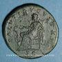 Monnaies Faustine jeune, épouse de Marc Aurèle († 175). Sesterce. Rome, 161-175. R/: la Santé