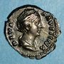 Monnaies Faustine mère, épouse d'Antonin le Pieux († 141). Denier. Rome, après 147. R/: Vesta
