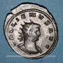 Monnaies Gallien (253-268). Antoninien. Antioche, 265-266. R/: Esculape