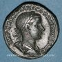 Monnaies Gordien III le Pieux (238-244). Sesterce. Rome, 239. R/: la Concorde assise à gauche