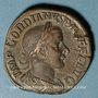 Monnaies Gordien III le Pieux (238-244). Sesterce. Rome, 242-243. R/: Apollon à demi-nu