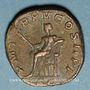 Monnaies Gordien III le Pieux (238-244). Sesterce. Rome, 242-243. R/: Apollon