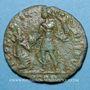 Monnaies Gratien (367-383). Maiorina. Arles, 1ère officine, 381-383. R/: l'empereur relevant une femme