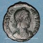 Monnaies Gratien (367-383). Maiorina. Théssalonique, 1ère officine, 378-83. R/: l'empereur relevant une femme