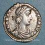 Monnaies Gratien (367-383). Silique. Trèves, 375-378. R/: Rome