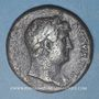 Monnaies Hadrien (117-138). Sesterce. Rome, 127. R/: Rome assise à gauche