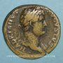 Monnaies Hadrien (117-138). Sesterce. Rome, 132-134. R/: galère