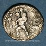 Monnaies Jules César (100-44 av. J-C). Denier. Afrique du Nord, 47-46 av. J-C. R/: Enée nu marchant à gauche
