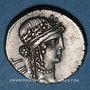 Monnaies Jules César (100-44 av. J-C). Denier. Grèce, (atelier itinérant), 48 av. J-C. R/: trophée