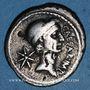 Monnaies Jules César (+ 44 av. J-C). Denier émis par P. Sépullius Macer, Rome, janvier-février 44 av. J-C