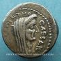 Monnaies Jules César (+44 av. J-C). Denier émis par Sépullius Macer, Rome, février-mars 44 av J-C