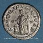 Monnaies Julia Maésa, grand-mère d'Elagabale († 226). Denier. Rome, 220-222. R/: la Félicité sacrifiant
