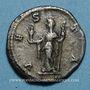 Monnaies Julia Mamée, mère d'Alexandre Sévère († 235). Denier. Rome, 226. R/: Vesta