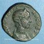 Monnaies Julia Mamée, mère d'Alexandre Sévère († 235). Sesterce. Rome, 226. R/: Vesta