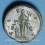 Monnaies Lucille, épouse de Lucius Vérus (+ 183). As. Rome, 164-166. R/: Vesta voilée debout à gauche
