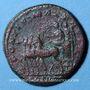 Monnaies Macrin (217-218). As. Rome, 217. R/: Macrin dans un quadrige