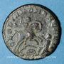 Monnaies Magnence (350-353). Maiorina. Trèves, 2e officine, 350. R/: Magnence à cheval à droite
