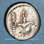Monnaies Marc Antoine (vers 83-30 av. J-C). Denier contremarqué MP-VES sous Vespasien