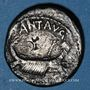 Monnaies Marc Antoine (vers 83-30 av. J-C). Denier émis pour la 2e légion, vers 32-31 av. J-C