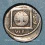 Monnaies Marc-Antoine (vers 83-30 av. J-C). Denier. Epire (?), 42. R/: temple