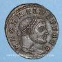 Monnaies Maxence (306-312). Follis. Ticinum, 2e officine, 307-308. R/: Rome