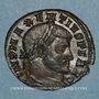 Monnaies Maxence (306-312). Follis. Ticinum, 3e officine, 309-310. R/: Rome