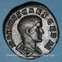 Monnaies Maxime, césar sous Maximin I Thrax (235-238). Sesterce. Rome, 235-236. R/: Maxime debout à gauche