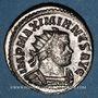 Monnaies Maximien Hercule, 1er règne (286-305). Antoninien. Lyon, 3e officine, 293. R/: la Paix