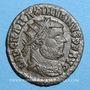 Monnaies Maximien Hercule, 1er règne (286-305). Bronze radié. Cyzique, 4e officine, 295-299. R/: l'empereur