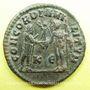 Monnaies Maximien Hercule, 1er règne (286-305). Bronze radié. Cyzique, 5e officine, 295-299. R/: l'empereur