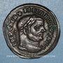 Monnaies Maximien Hercule, 1er règne (286-305). Follis. Ticinum, 1ère officine, 295-299. R/: Génie