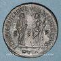 Monnaies Maximien Hercule, post-abdication. Follis. Trèves, 1ère officine, 305-306. R/: la Providence