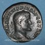 Monnaies Maximin I Thrax (235-238). Sesterce. Rome, 235-236. R/: la Fidélité militaire debout à gauche