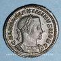 Monnaies Maximin II Daza, césar (305-308). Follis. Trèves, 1ère officine, 305-307. R/: Génie tourelé