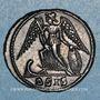 Monnaies Monnayage pour Constantinople. Centenionalis. Siscia 2e officine, 330-333. R/: Victoire
