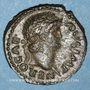 Monnaies Néron (54-68). Semis. Rome, 64. R/: table ornée d'un bas relief représentant deux griffons