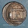 Monnaies Octave (43-27 av. J-C). Denier. Italie, 36 av. J-C. R/: temple tétrastyle