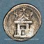 Monnaies Octave (43-27 av. J-C). Denier. Rome, 29 av. J-C. R/: Curia Julia