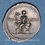 Monnaies Octave (43-27 av. J-C). Denier. Rome, 30-29 av. J-C. R/: Octave assis à gauche